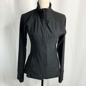 Gottex black full zip sweatshirt M peplum back